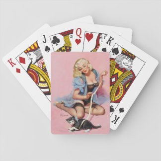 GIL ELVGREN Denise Pin Up Art Playing Cards