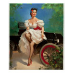 GIL ELVGREN Miss Sylvania 2 Pin Up Art Poster