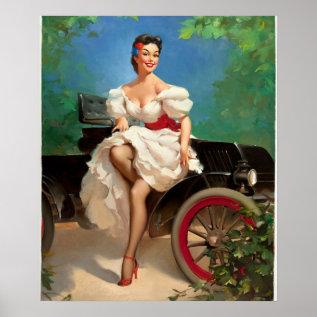 Gil Elvgren Miss Sylvania 2 Pin Up Art Poster at Zazzle