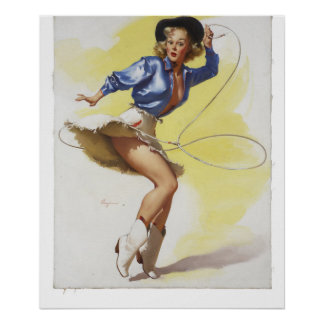 GIL ELVGREN On Her Toes, 1954 Pin Up Art Poster