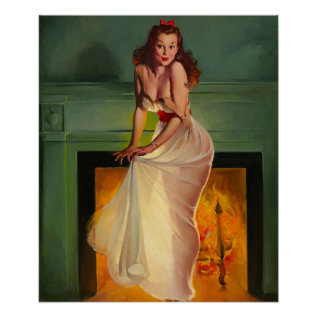 Gil Elvgren Sheer Delight Pin Up Art Poster at Zazzle