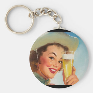 GIL ELVGREN Shiner Texas Special Pin Up Art Keychain
