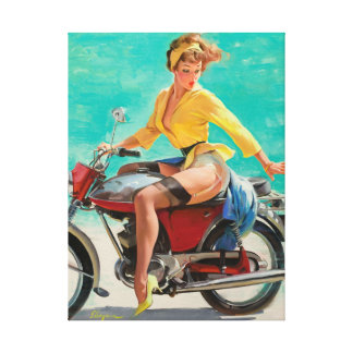 GIL ELVGREN Skirting the Issue Pin Up Art Canvas Print