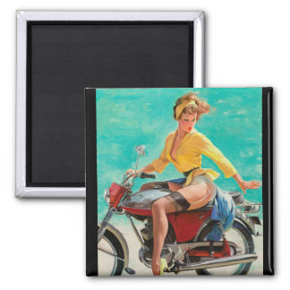GIL ELVGREN Skirting the Issue Pin Up Art Magnet