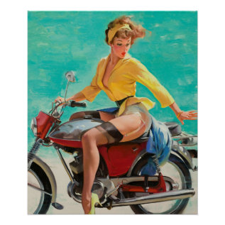 Gil Elvgren Skirting The Issue Pin Up Art Poster at Zazzle