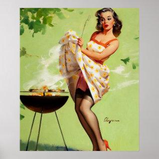 Gil Elvgren Smoke Screen Pin Up Art Poster at Zazzle