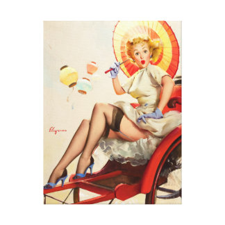 GIL ELVGREN Something's Bothering You Pin Up Art Canvas Print