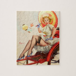 GIL ELVGREN Something's Bothering You Pin Up Art Jigsaw Puzzle