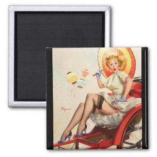 GIL ELVGREN Something's Bothering You Pin Up Art Magnet