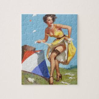 GIL ELVGREN The Final Touch Pin Up Art Jigsaw Puzzle
