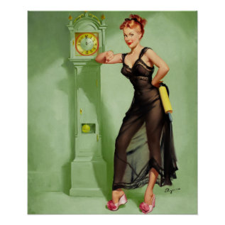 Gil Elvgren The Honeymoon's Over Pin Up Art Poster at Zazzle