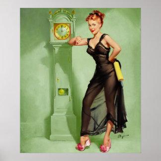GIL ELVGREN The Honeymoon's Over Pin Up Art Poster