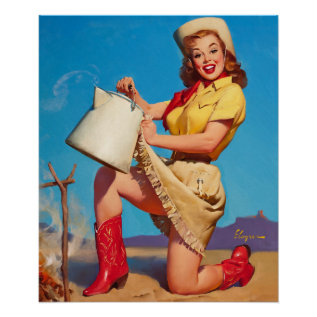 Gil Elvgren Tops In Service Pin Up Art Poster at Zazzle