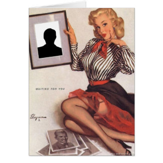 Gil Elvgren - Waiting For You Greeting Card