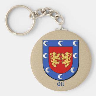 Gil Heraldic Shield Keychain