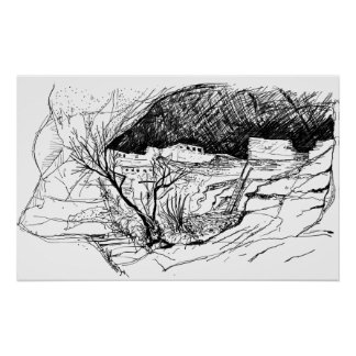 Gila Cliff Dwellings, New Mexico Poster