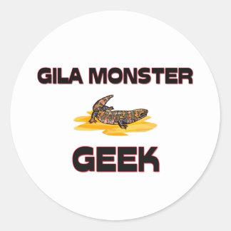 Gila Monster Geek Round Stickers