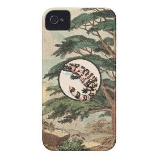 Gila Monster In Natural Habitat Illustration iPhone 4 Case-Mate Cases