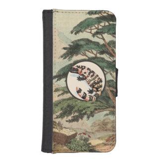 Gila Monster In Natural Habitat Illustration Phone Wallet Cases