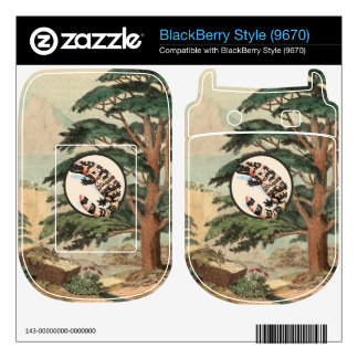 Gila Monster In Natural Habitat Illustration BlackBerry Style Decal
