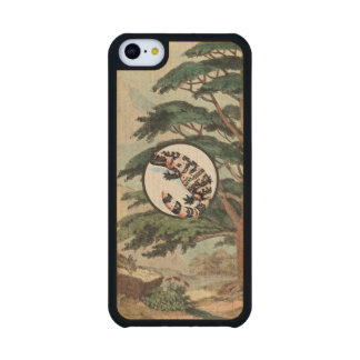Gila Monster In Natural Habitat Illustration Carved® Maple iPhone 5C Case
