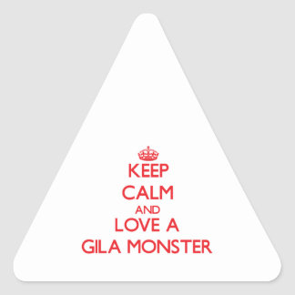 Gila Monster Triangle Stickers