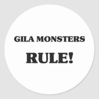 Gila Monsters Rule Stickers