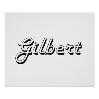 Gilbert Arizona Classic Retro Design Poster