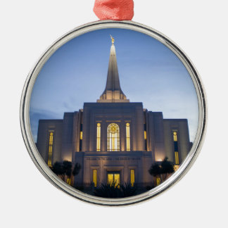 GIlbert Arizona LDS Temple Metal Ornament