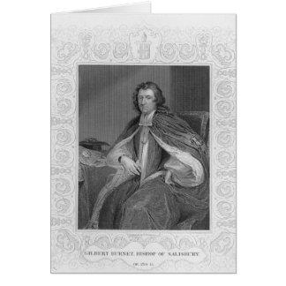 Gilbert Burnet, obispo de Salisbury Tarjeta De Felicitación