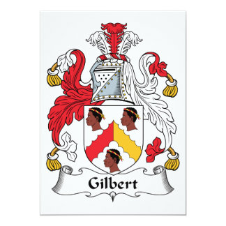 Gilbert Family Crest Personalized Announcement