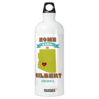 Gilbert, mapa de Arizona - casero es donde está el