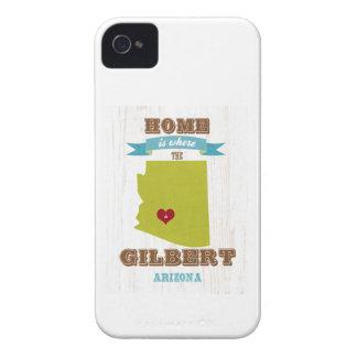 Gilbert, mapa de Arizona - casero es donde está el Case-Mate iPhone 4 Protectores
