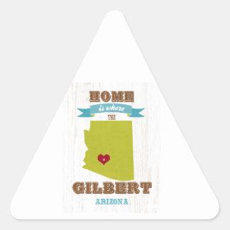 Gilbert, mapa de Arizona - casero es donde está el Pegatina Triangular