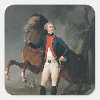 Gilbert Motier  Marquis de la Fayette, 1788 Square Sticker