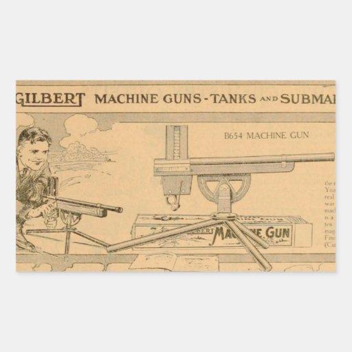Gilbert toy's Machine Gun 1919 Rectangular Sticker