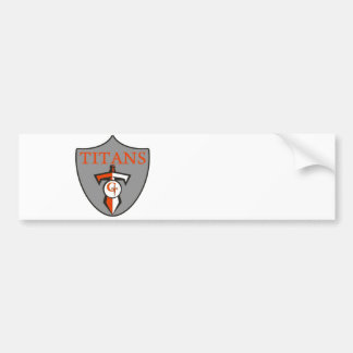 Gilbert Youth Football League Titans Bumper Sticker