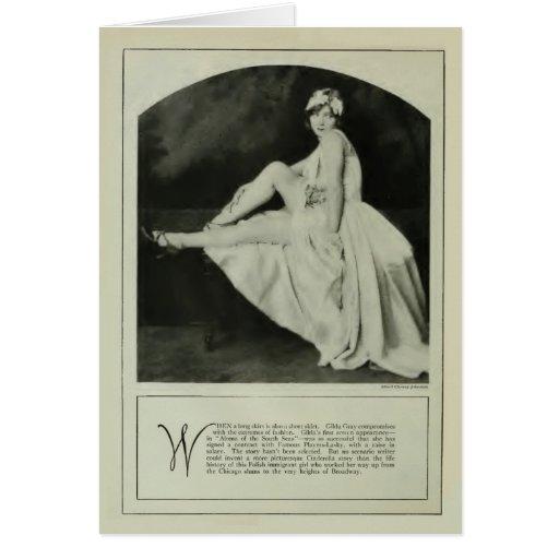Gilda Gray 1926 vintage portrait card