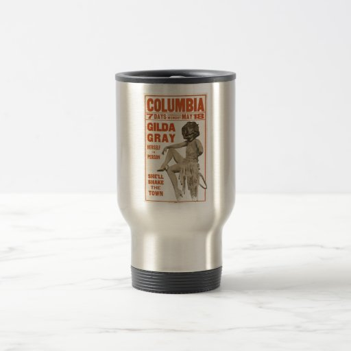 Gilda Gray herself in person (poster) 1920s 15 Oz Stainless Steel Travel Mug