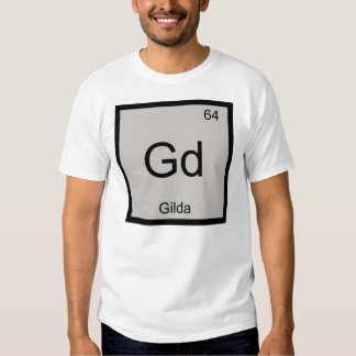 Gilda Name Chemistry Element Periodic Table Tshirt