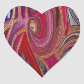 Gilded Abstract 08 Heart Sticker