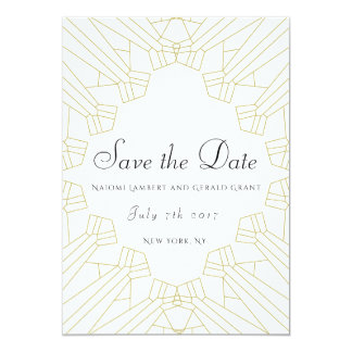 Gilded Age save the date white Card