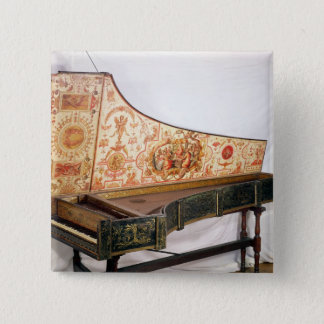Gilded and painted harpsichord button
