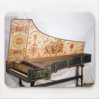 Gilded and painted harpsichord mouse pad