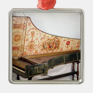 Gilded and painted harpsichord christmas ornaments