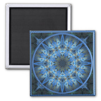 Gilded Azure 4  Square Fridge Magnet