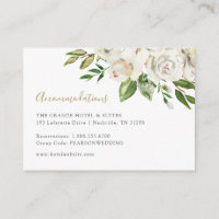 Gilded Blooms Wedding Accommodations Enclosure Card