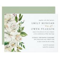 Gilded Blooms Wedding Invitation