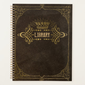 Gilded Book Cover Library Planner