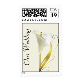 Gilded Calla Lily Wedding Stamp